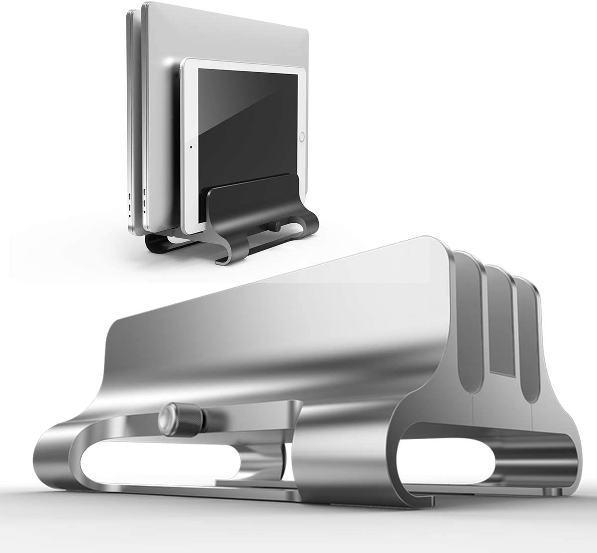 Elejolie MacBook Pro Vertical Max 71% OFF Opening large release sale Holder Laptop Stand 3 Slo