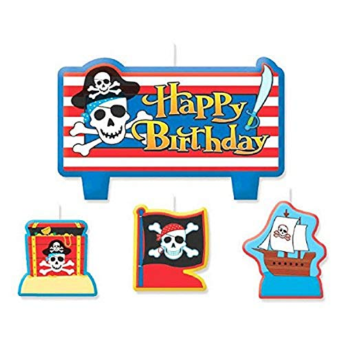 Pirate's Treasure Birthday Candle Set