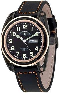 Zeno Watch Basel - Reloj para Hombre Analógico Automático con Brazalete de Cuero 3869DD-BRG-a1
