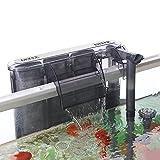 AKKEE Filtro Acuario, Filtro para Pecera, Filtro Externo Acuario Filtro Pecera Pequeña Acuario Filtro Cascada Flujo 260L/H Filtro para Acuario, Adecuado para 40-80L Tanque de Peces (4.2W)