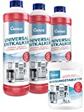 Cunea 3x 750ml Entkalker und 350x Reinigungstabletten - für alle Kaffeevollautomaten und...