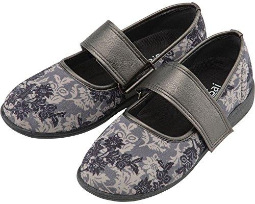 SaiSai〜フラワープリント〜 婦人用 21.5cm クラシックブラック W941 (マリアンヌ製靴) (シューズ)