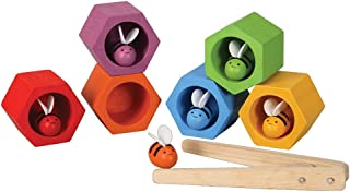 PlanToys Wooden Beehives Sorting Game (4125) | Sustainably Made from Rubberwood and Non-Toxic Paints and Dyes