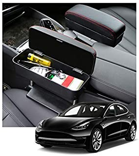 CDEFG Car Elbow Support Console Organizer Adjustable Comfortable Driver Armrest Pads Universal (Black)