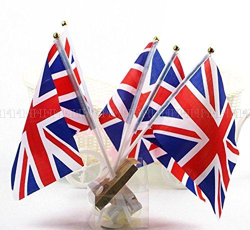 50 stk. Union Jack Hand Wehende Flagge Royal Jubilee UK-GB Großbritannien Flaggen