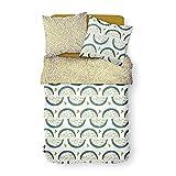 TODAY - Funda nórdica reversible y funda de almohada (100% algodón, 240 x 260 cm)
