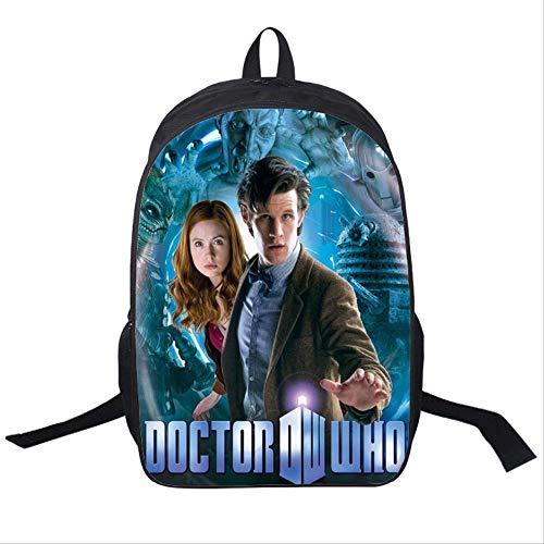Mochilas,Serie dramática de Ciencia ficción Casual Daypack,Mysterious Doctor Pattern Schoolbag,Resistente al Desgaste y cómoda de 16 Pulgadas.8