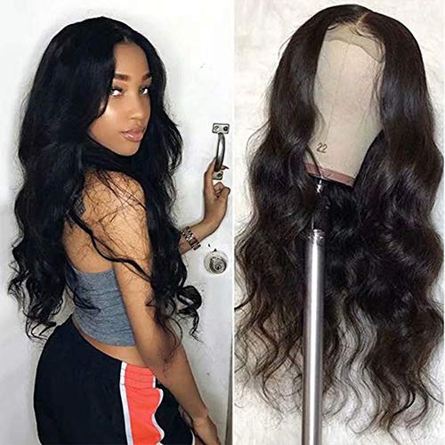 Maxine 4x4 Lace Closure Wigs Body Wave Lace Front Wigs Human Hair With Baby Hair 150% Density Body Wave Human Hair Wigs For Black Women Natural Color 12inch