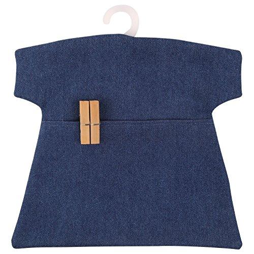 Neoviva Wasserdichter Wäscheklammerbeutel an Kleiderhaken aus Kunststoff, Polyvinylchlorid-beschichtet, im Design eines kurzen T-Shirts, Solid Indigo Blue, 30(L)x30(W) CM
