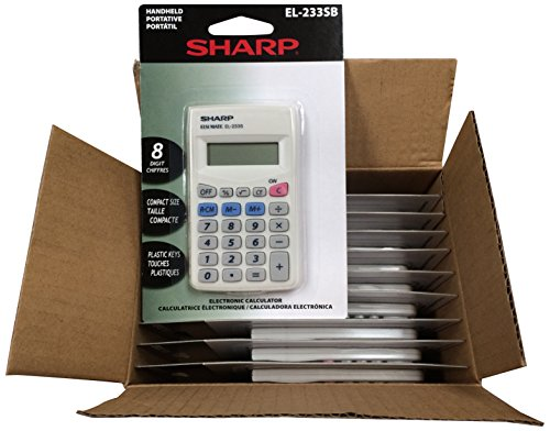 Sharp EL233SB 10 Pack EL233SBX10 Calculator, White