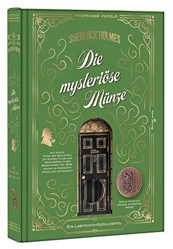 moses 92103 Sherlock Holmes – Die mysteriöse Münze | Professor Puzzle Geduldspiel aus Holz | Labyrinth-Spiel, bunt