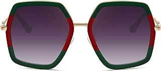 Oversized Fashion Sunglasses For Women Hexagon Inspired Brand Designer Style