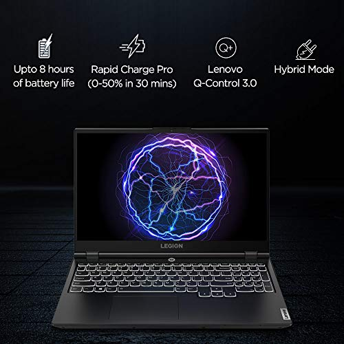 Lenovo Legion 5i 10th Gen Intel Core i7 15.6 inch Full HD Gaming Laptop (8GB/1TB HDD + 256GB SSD/Windows 10/MS Office 2019/120 Hz/NVIDIA GTX 1650Ti 4GB GDDR6 Graphics/Phantom Black/2.3Kg), 82AU004RIN