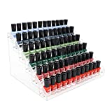 Kingtaily Nail Polish Organizer 72 Bottles of 6 Layers Acrylic Display Rack Storage Rack, Clear Essential Oil Stand Holder