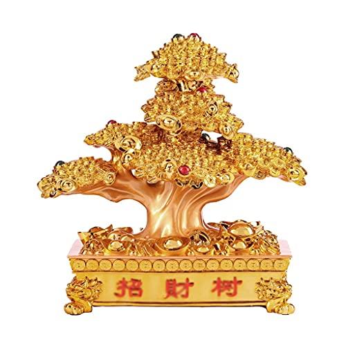 Crystal Money Trees Árbol de dinero Cristón Fortuna Árbol Decoraciones para el hogar Crystal Fortune Tree Feng Shui Tree Lucky Tree Bonsai 12.59 / 15.74 Pulgadas Árbol de cristal de dinero bonsai
