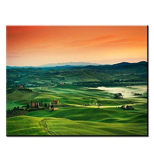 N / A Italienische Hauptdekoration Wandkunst Ölgemälde Wandbild rahmenloses Gemälde 30cmX45cm