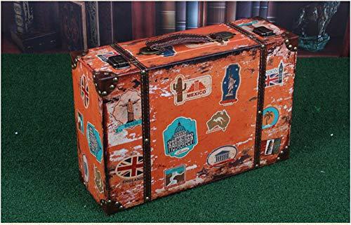 LIAOLEI10 standbeeld Land Retro koffer Bagage Houten Display Opbergdoos Studio Props Home Decoratie Accessoires Morden Verjaardagscadeau
