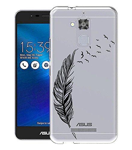 Sunrive per ASUS Zenfone 3 Max ZC520TL 5,2 Pollici, Custodia Cover Case in Molle Trasparente Ultra Sottile TPU Silicone Morbida Flessibile Pelle AntiGraffio Protettiva(TPU Piuma)