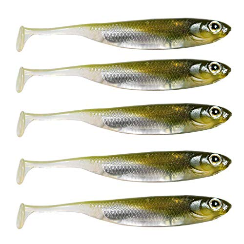 QualyQualy Soft Bait Shad Lures Shad Bait Rubber Lures Plastic Worms Baits...