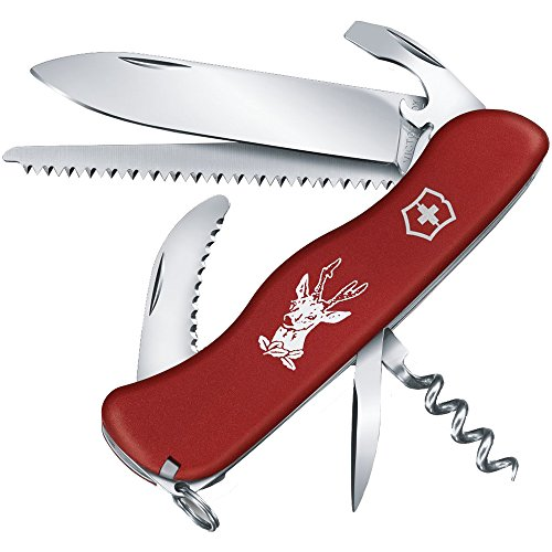 Victorinox Taschenmesser Hunter (12 Funktionen, Kombi-Klinge, Waidklinge, Säge) rot