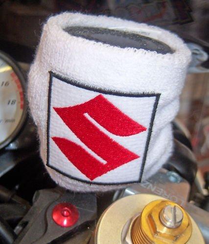 Exclusivo Manguito en Esponja Blanco Cubierta Depósito Líquido Frenos para Suzuki Moto
