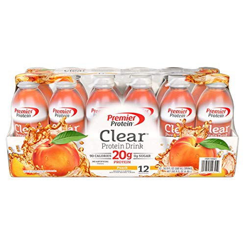 Premier Protein Clear Protein Drink Peach 169 oz 12 ct