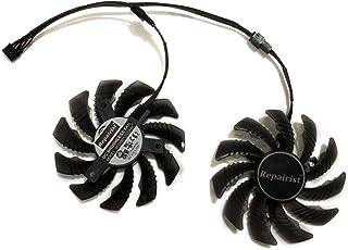 PLD08010S12HH Gigabyte用 Gigabyte GTX 1050Ti 4G GeForce GTX 1050 OC 3G/2G GIGABYTE GV-RX560GAMING OC-4GD GV-RX550GAMING OC-2GD GPU グラフィックカードファン (1 Set PLD08010S12HH Dual Fan)