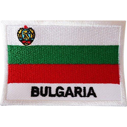 Aufnäher mit Bulgarien-Flagge, bestickt, zum Aufnähen, auf Kleidung, Jacke, Jeans, Tasche