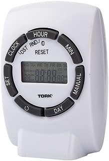 NSi Industries 460E 125V 7 Day Digital Plug-In Polar Indoor Timer, White