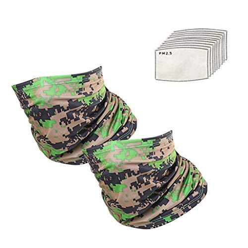 Realde Herren Bandana Bindetuch Mode Tarnmuster Camouflage Multifunktionstuch Schal Schlauchschal Motorrad Mundschutz Halstuch Kopftuch Loop Schal für Motorradfahren Fahrrad