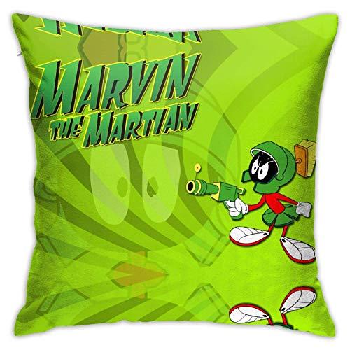 Jupsero Marvin The Martian Fodera per cuscino decorativa per cuscino per soggiorno, camera da letto, divano, sedia, auto 18x18 pollici