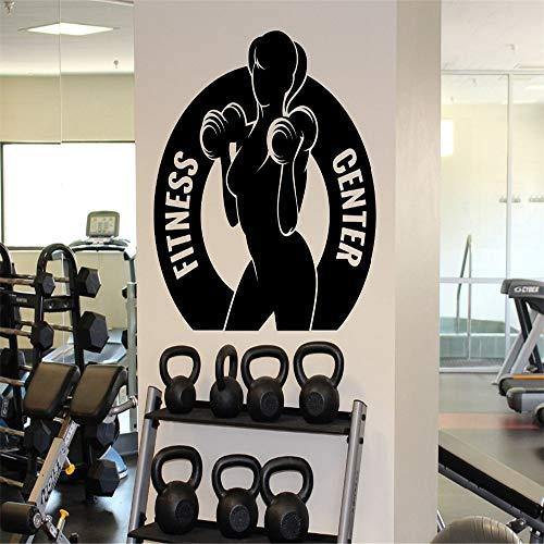 Fitness Center Muursticker Vrouwelijke Gym Sport Vinyl Sticker Home Muurdecoratie Ideeën Interieur Verwijderbaar Ontwerp Wallpapers