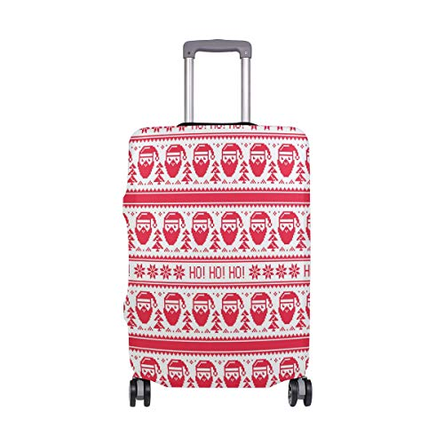 SUHETI Cubierta de Protector Equipaje con Cremallera,Stampa Nordic Ho Santa Stitch,Funda Maleta Suave elástico de Anti-Polvo(S 18-20 in)