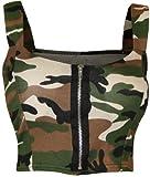 WearAll - Damen reißverschluss Bandeau Boobtube gepolsterte Trageriemen Crop Top Bralet - Armee - 36-38