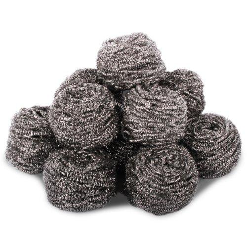TheChemicalHut Confezione Da 10 di Resistente Acciaio Inox Spugnette abrasive - 60grams ogni. Ideale per Cucina, Barbecue, Rimozione Di Vernice e resistente Pulizia Applicazioni