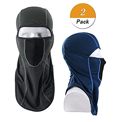 LONGLONG Balaclava - Windproof, Dust & Breathable Outdoor Multifunctional Summer Full Face Mask for Cycling, Hiking, Motorcycle (Blue + Grey)