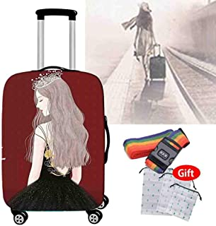 Suitcase Cover 18-32 Inch Breathable Protective Cover Travel Essential Waterproof Non-Slip Luggage Cover