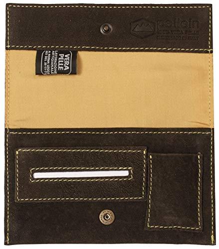 Pellein - Portatabacco in vera pelle Crackland Big - Astuccio porta tabacco, porta filtri, porta cartine e porta accendino. Handmade in Italy