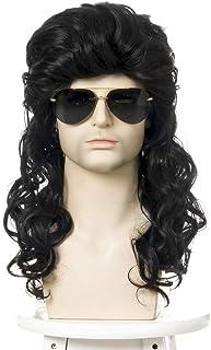 mixfeer WIG-M05 High-temperature Synthetic Fiber Wigs Heat Resistant Long Hairpiece Metal Rocker Disco Hair Wig for Men Co...