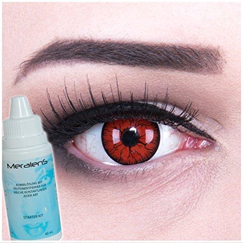 EIN PAAR Farbige Crazy Fun 14 mm Metatron Kontaktlinsen mit gratis Linsenbehälter und 60ml Kombilösung. Perfekt für Fasching und Halloween.