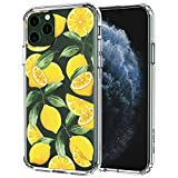 MOSNOVO iPhone 11 Pro Case, Lemon Pattern Clear Design Transparent Plastic Hard Back Case with TPU Bumper Protective Case Cover for Apple iPhone 11 Pro (2019)