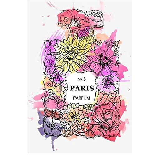 """YangMENGDAN druk op canvas Nordic Abstract Coco Multicolor parfum fles muurkunst canvas schilderkunst moderne wandafbeeldingen voor woonkamer 19.6""""x 27.5""""(50x70cm) Geen lijst2"""