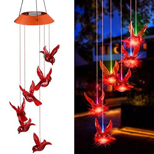 Solar Cardinal Bird LED Light