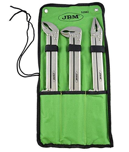 JBM 52982 Alicates de mordaza extralargos, Set de 3 Piezas