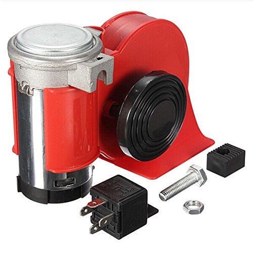 JINXL 12V Mini Coche eléctrico Bomba eléctrica Bocina de aire Bocina de alarma de coche ruidosa Accesorios para herramientas automotrices
