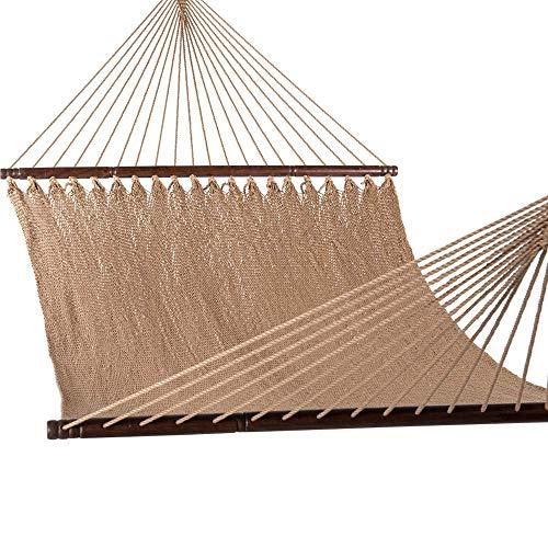 LHAHGLY Hängematte hängende Baumwollseil, schnelles trockenes Seil-Streuerbett, super Leichter Garten im Freien-Terrasse Pool-Swing - 440-Pfund-Kapazität mit Tragen hängesessel Outdoor
