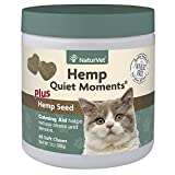 NaturVet Hemp Quiet Moments Plus Hemp Seed Soft Chews for Cats, Count of 60.5 LB