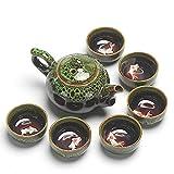 Juego de té de cerámica esmaltada tazas de té chino Kung Fu Teaware Conjuntos de té de China Set de té Tetera Teaset Gaiwan Set de tazas de té ceremonia maestro tetera