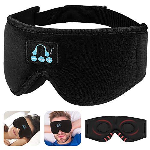 Auriculares de Dormir Bluetooth Antifaz para Dormir con Bloqueo de la Luz Music Sleep Eye Shades con Altavoz HD Incorporado Personas Que Duermen de Lado