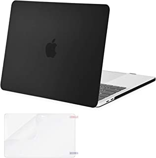 MOSISO MacBook Pro 13 inch Case 2019 2018 2017 2016 Release A2159 A1989 A1706 A1708, Plastic Hard Shell Cover & Screen Protector Compatible with MacBook Pro 13 with/Without Touch Bar, Black